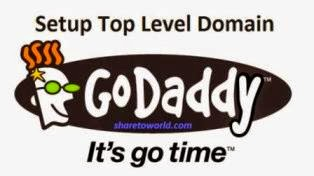 How to Setup Top Level Domain in Blogger with GoDaddy