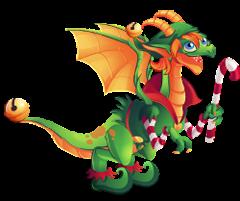 imagen del dragon elfo navidad