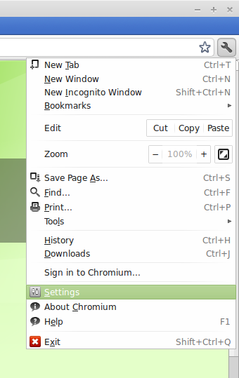 Remove Linux Mint custom search in Chromium