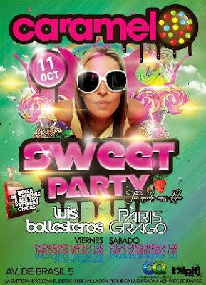 Sweet Party en Caramelo el 11 de Octubre