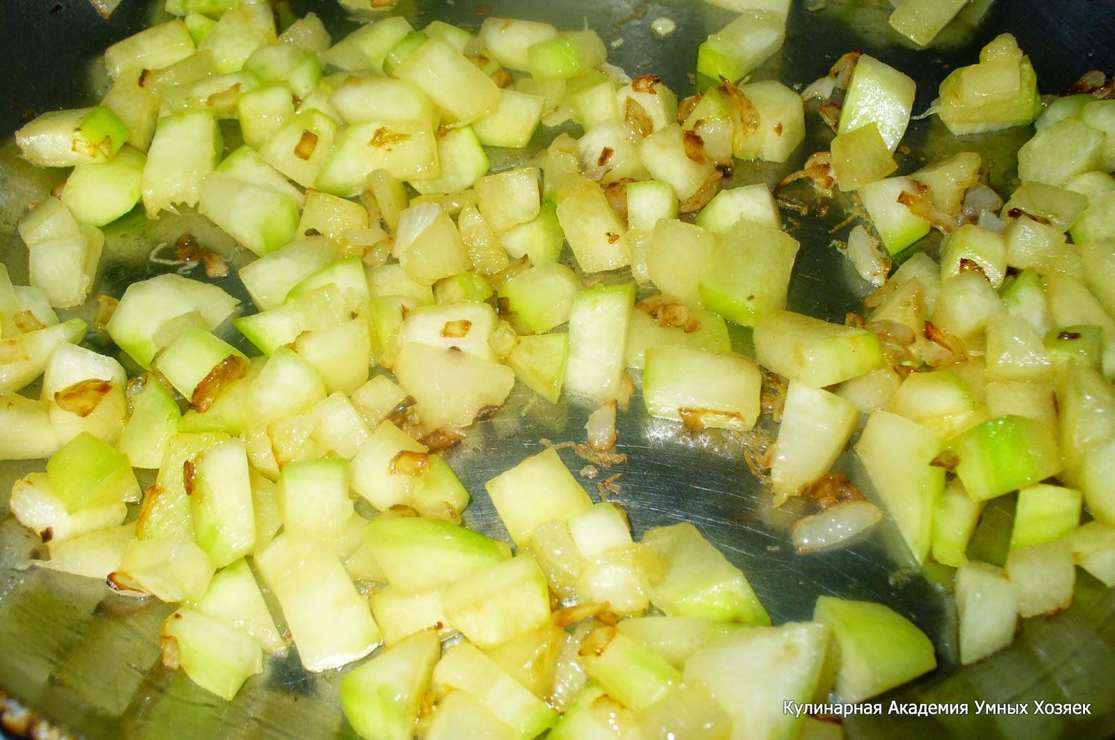 кабачки с луком для супа обжаренные