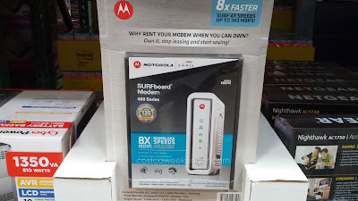 Motorola Surfboard SB6141 Cable Modem provides a fast connection and fast upload and download speeds for your home network