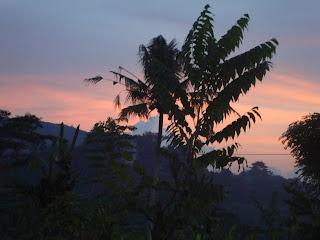 Pemandangan di Bali pada sore hari