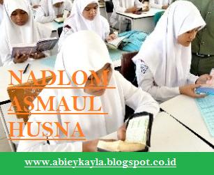 Nadlom Asmalul Husna Dalam Tulisan Arab Disertai Terjamahannya Untuk Belajar Siswa