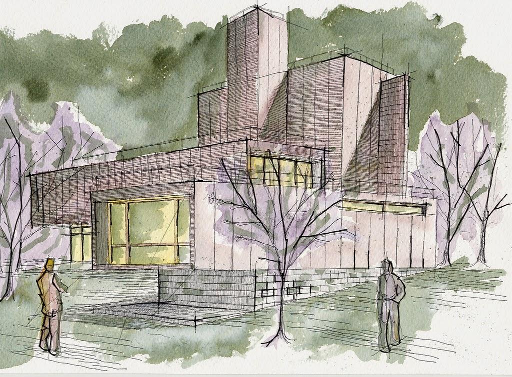 Ilustrarte10 arquitectura perspectiva c nica for Imagenes arquitectura