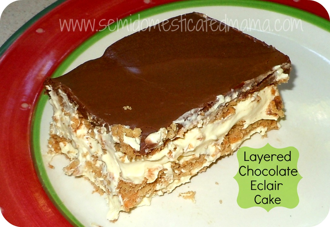 Images Of Chocolate Eclair Cake : Layered Chocolate Eclair Cake