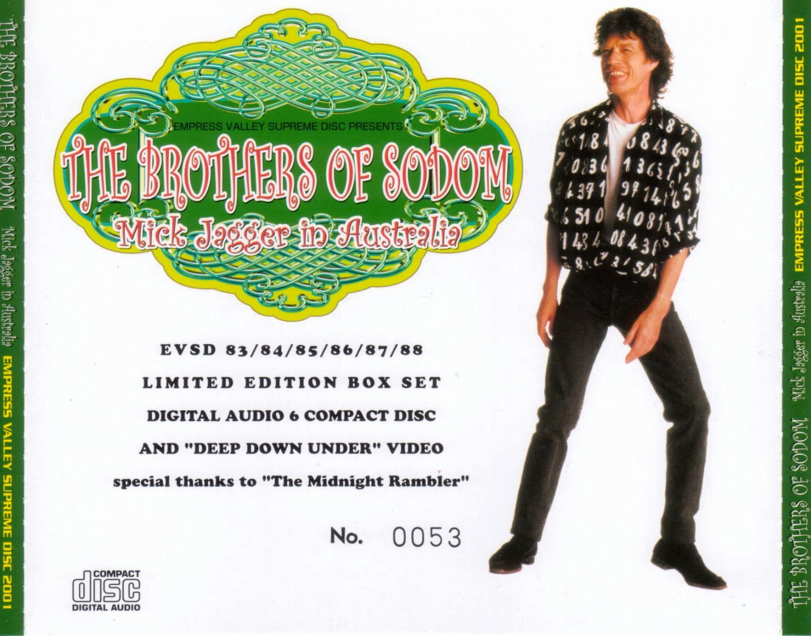 Mick Jagger - 1988 - The Brothers Of Sodom