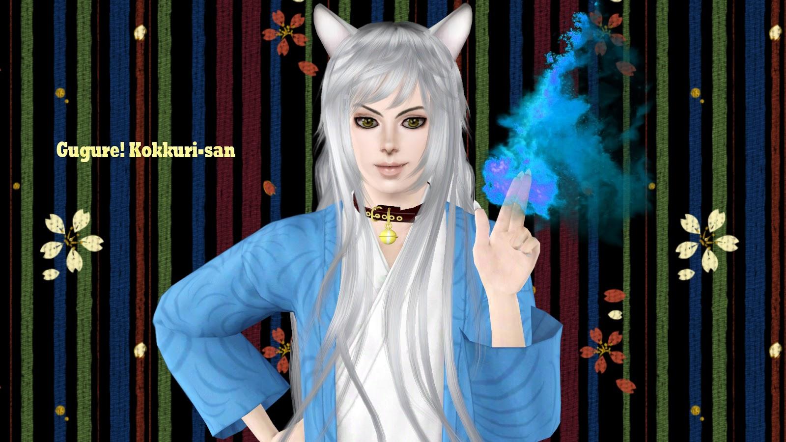 Sims 4 Anime Characters : Ng sims kokkuri san anime