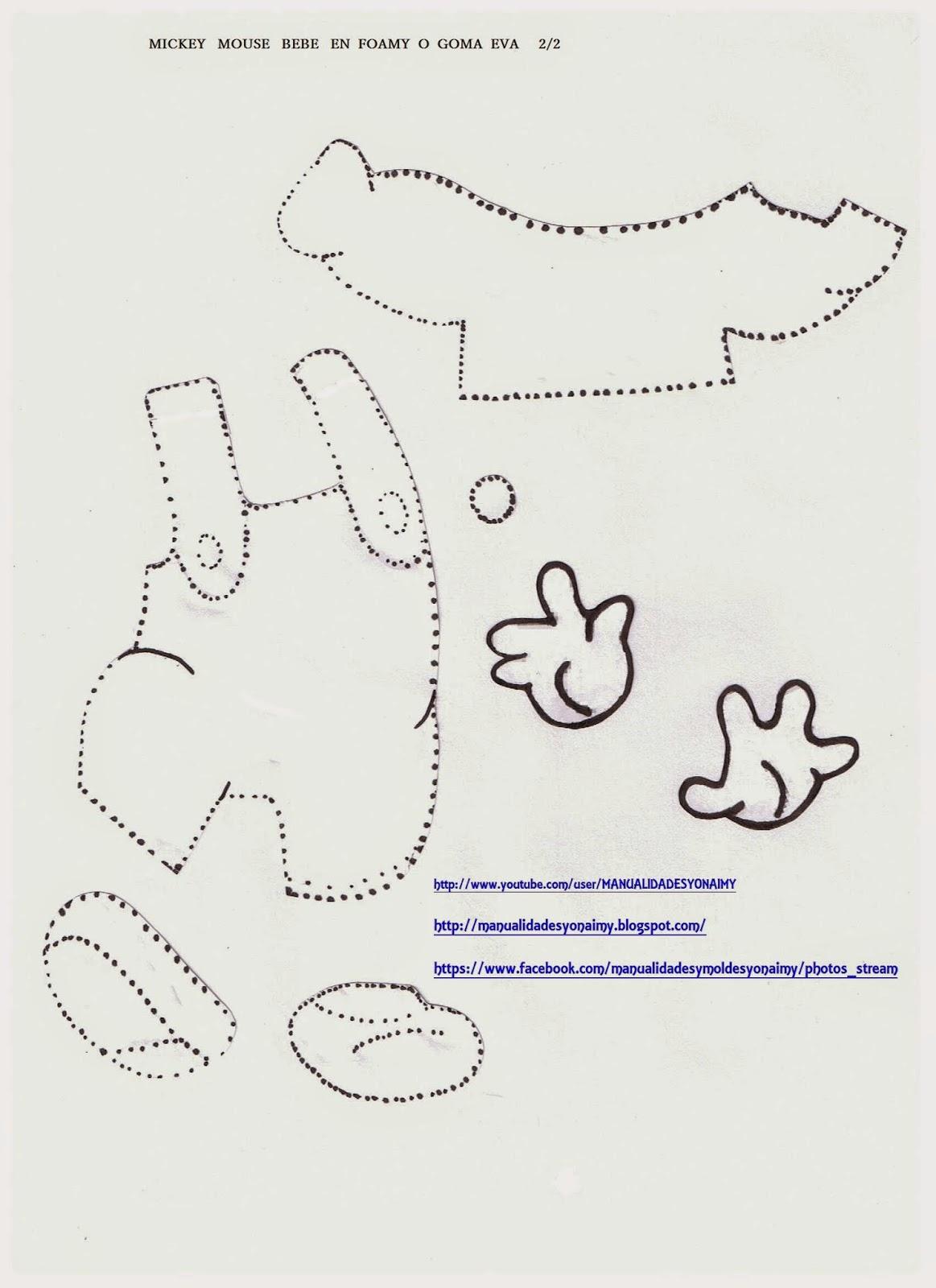Mickey mouse de goma paso a paso mickey mouse bebe en - Manualidades de goma eva ...
