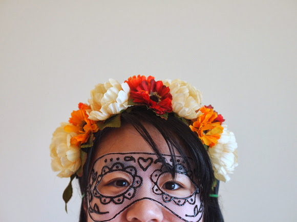 DIY Tulle Mask for Halloween