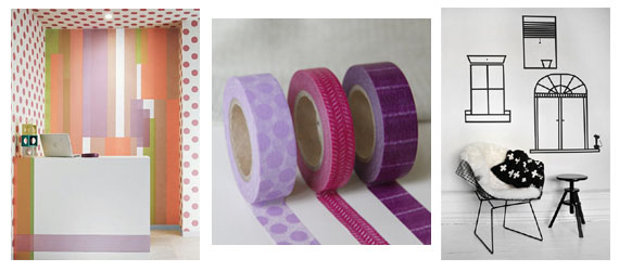 Ma Bicyclette: Rented Home Inspiration   Temporary Home Improvements - Washi Tape