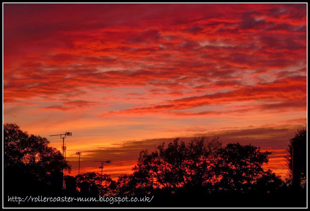 Red sky at night - sunset