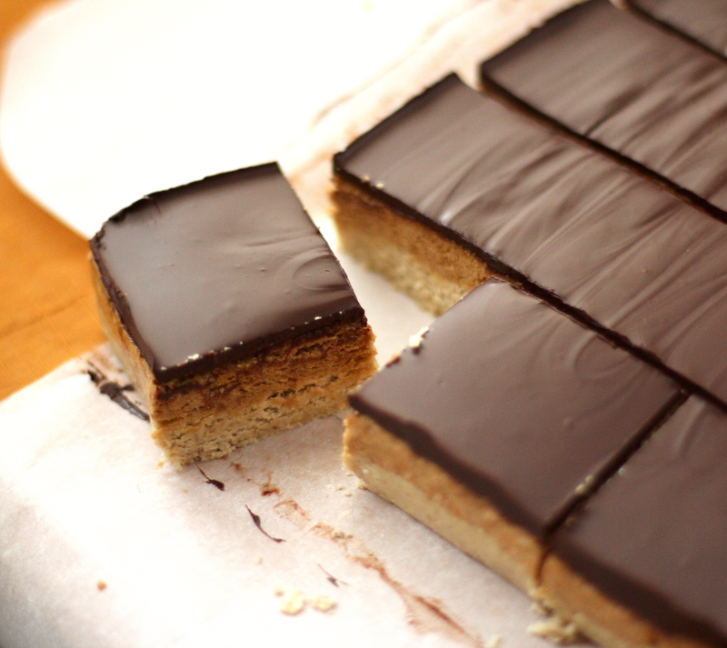 Healthy Peanut Butter and Dark Chocolate Shortbread Bars - Desserts ...