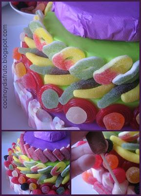 Cocino y disfruto tarta de gominolas ii con paso a paso for Pinchos de gominolas