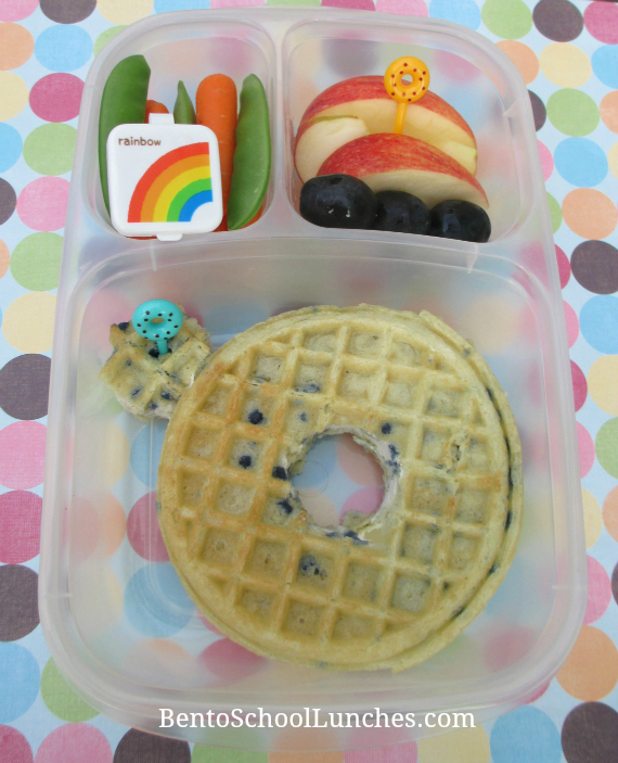 Waffle donut breafast for lunch, Bento School Lunches