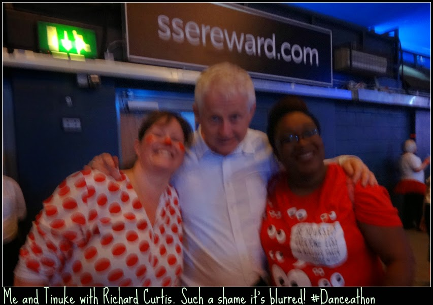 Us with Richard Curtis founder of Comic Relief