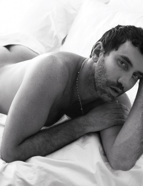Riccardo Tisci naked in bed by Mert & Marcus