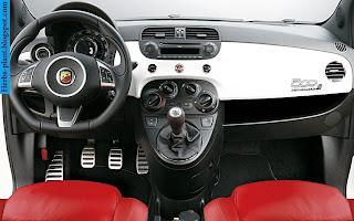 Fiat 500 car dashboard - صور تابلوه سيارة فيات 500