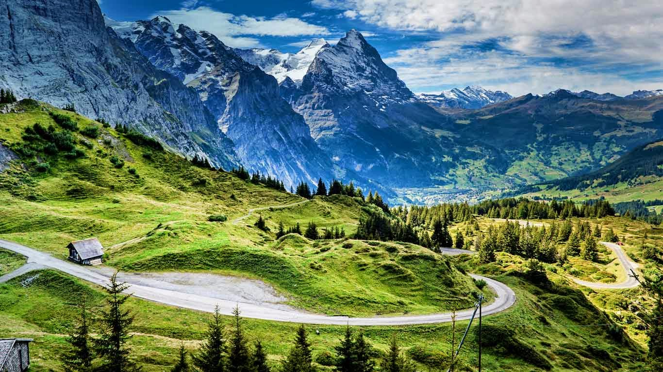 View of the Eiger from the Grosse Scheidegg mountain pass, Switzerland (© SIME/eStock Photo) 499