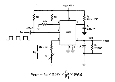 electical circuit simple frequency to vvoltage converter circuit diagram