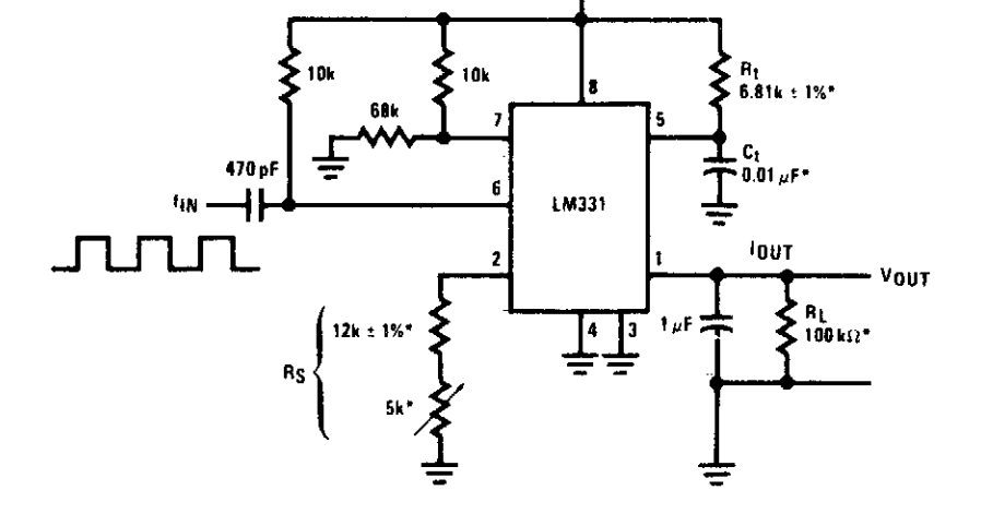 super circuit diagram  frequency to vvoltage converter