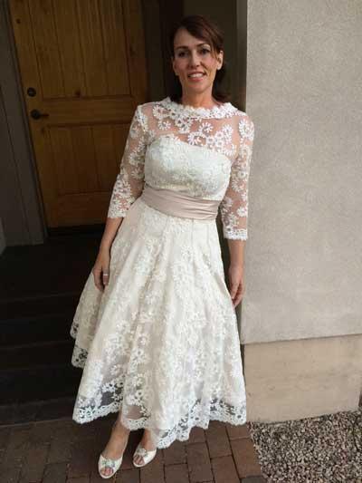 Tea Length Lace Wedding Dress 94 Elegant Wedding Dress Construction Details