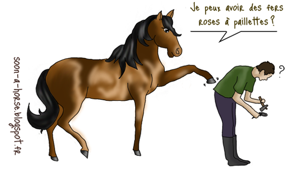 Soon a horse le fer cheval protection des sabots - Dessin fer a cheval ...