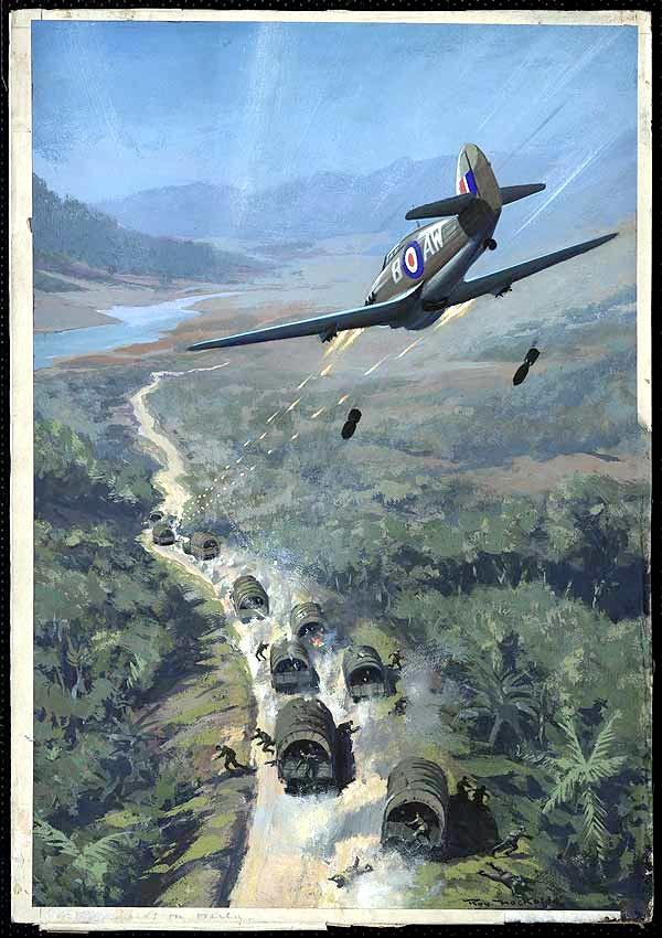 British warplane attacks Japanese convoy