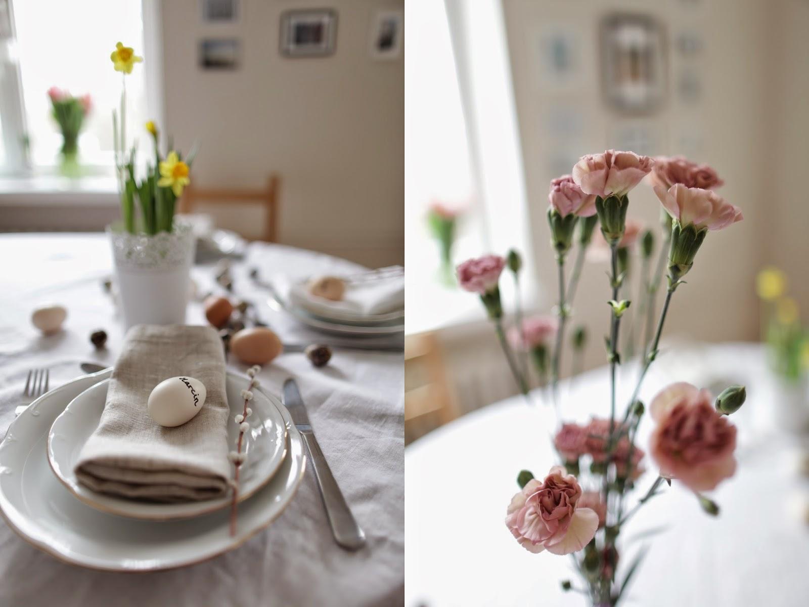 Wielkanoc dekoracje stołu