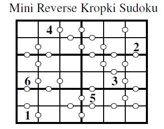 Reverse Kropki Sudoku (Mini Sudoku Series #8)