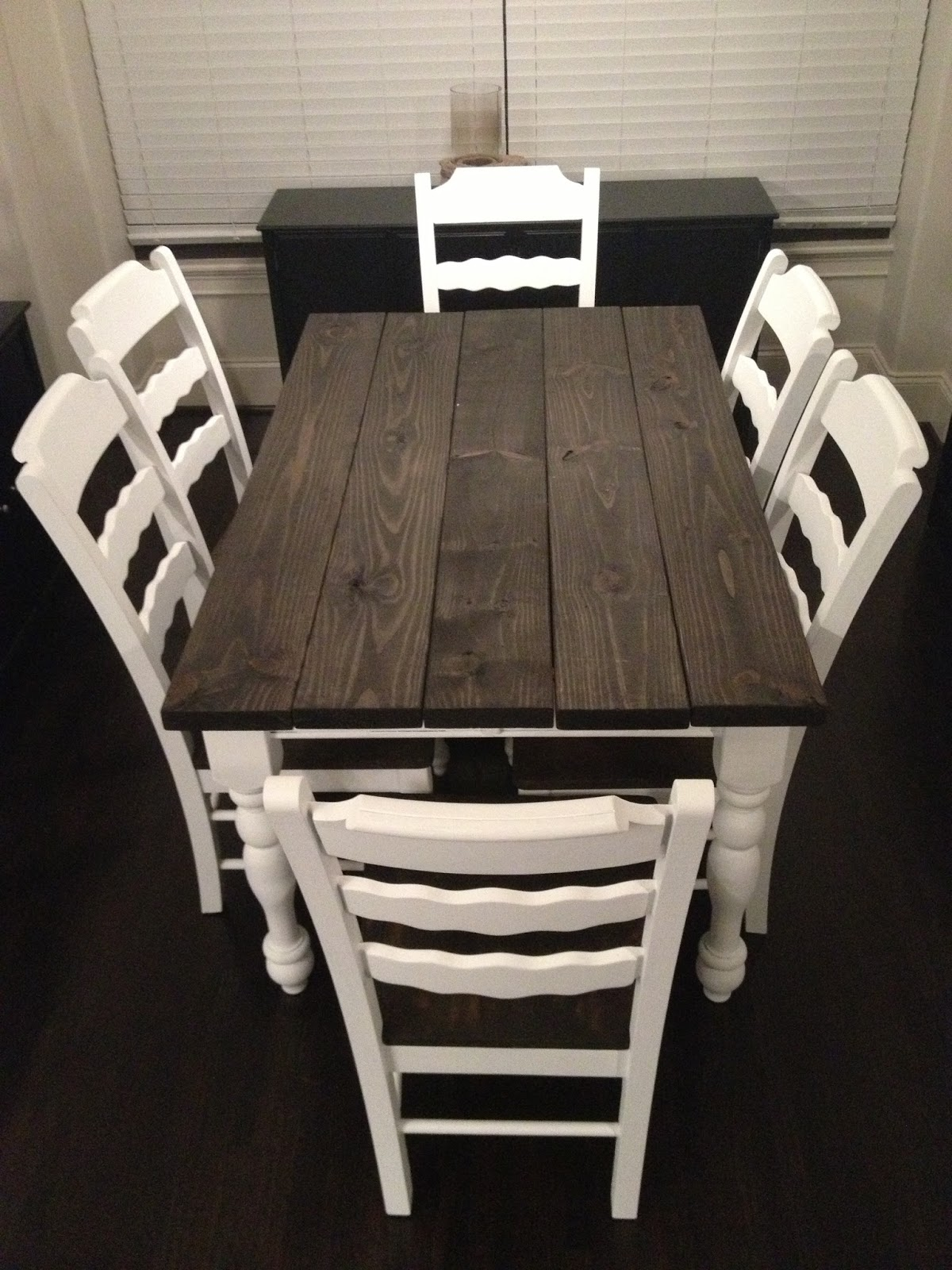Love The Porters Thankful Thursday He Built A Table For Me - Dark wood farm table
