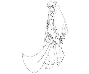 #3 Inuyasha Coloring Page