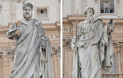 Fotos: estátuas dos Apóstolos São Pedro e São Paulo