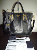 PRADA SOFT CALF LEATHER TOTE