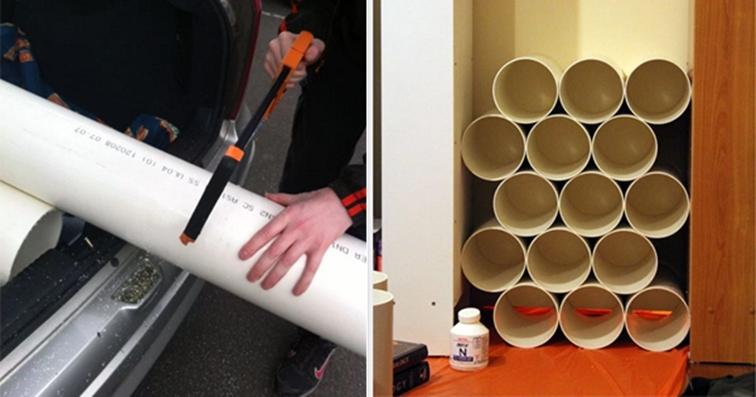 DIY PVC Pipe Shoe Rack