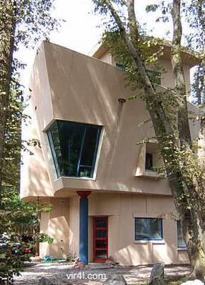 Casa con singular diseño de tetrahedro