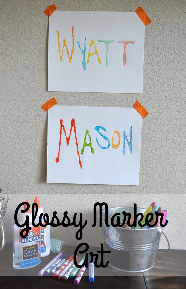 Glossy Marker Art - Kids Craft