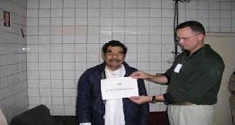 4 صور ممنوعة من النشر لصدام حسين داخل السجن