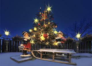 Weihnachten am Rhein. Romantische Weihnachten