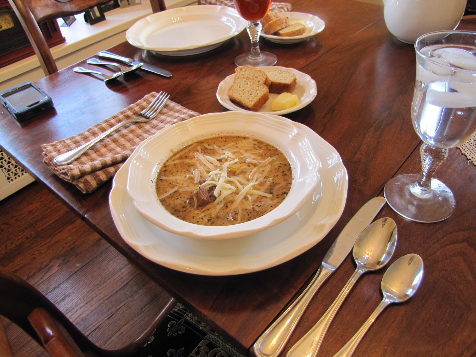soup is Caramelized Onion & Beef Soup -- really a take on French Onion ...