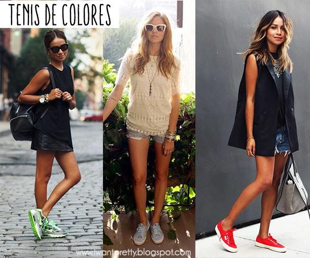 LOOK,Outfits con tenis para Primavera,Verano!