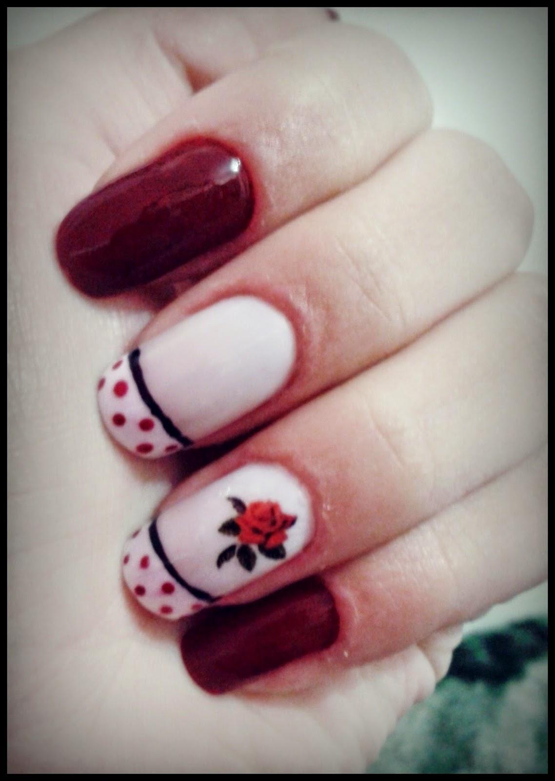 Suficiente Cantinho Do Make: Unha da semana: Francesinha com Flor Vermelha MQ39
