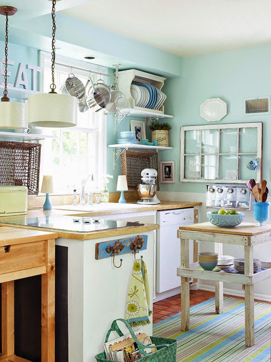 Cottage A Flea Market Style Kitchen I Love Everything About This