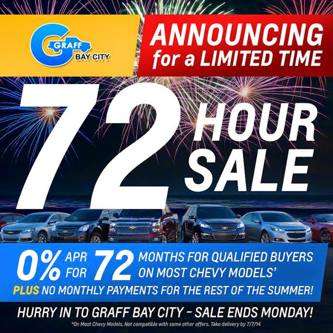 Chevrolet 72 Hour Sale At Graff Bay City