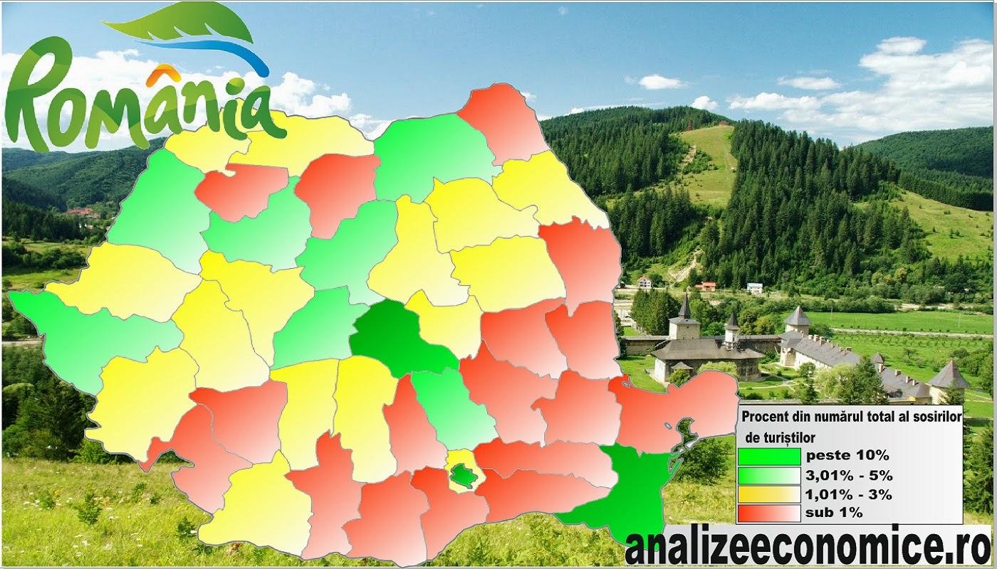 Topul județelor după numărul de turiști