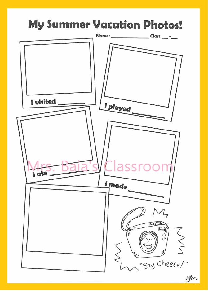 Summer Vacation Worksheets : Back to life reality summer vacation summary