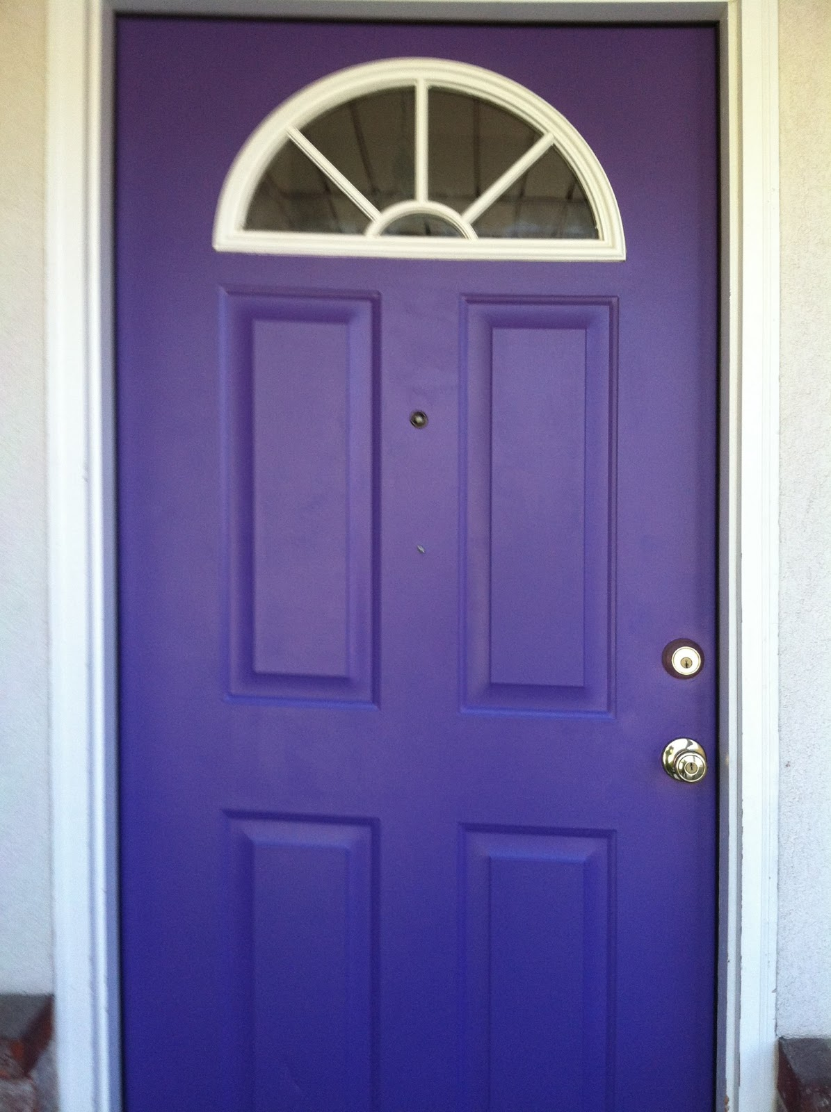 Purple war new front door for New front door