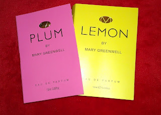 Mary Greenwell PLUM and LEMON EDP samples