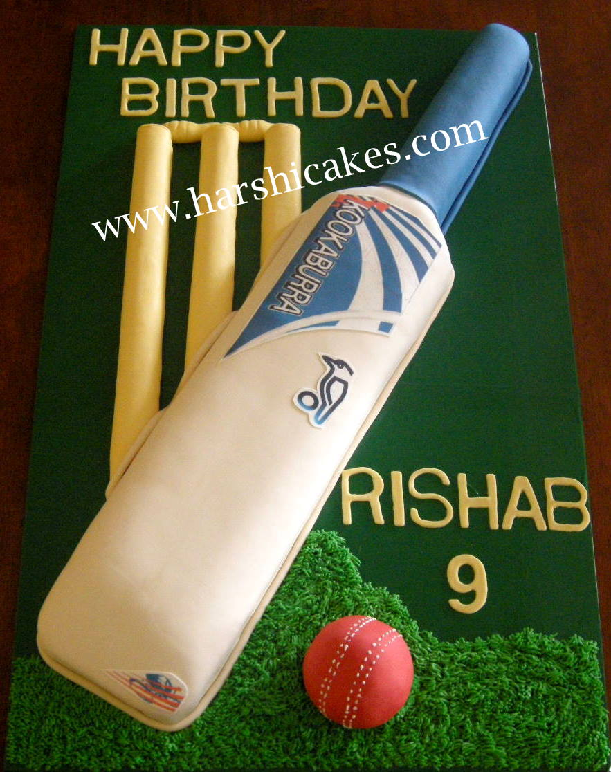 Cricket Bat Cake Images : Cricket Cake Birthday Cake Ideas and Designs