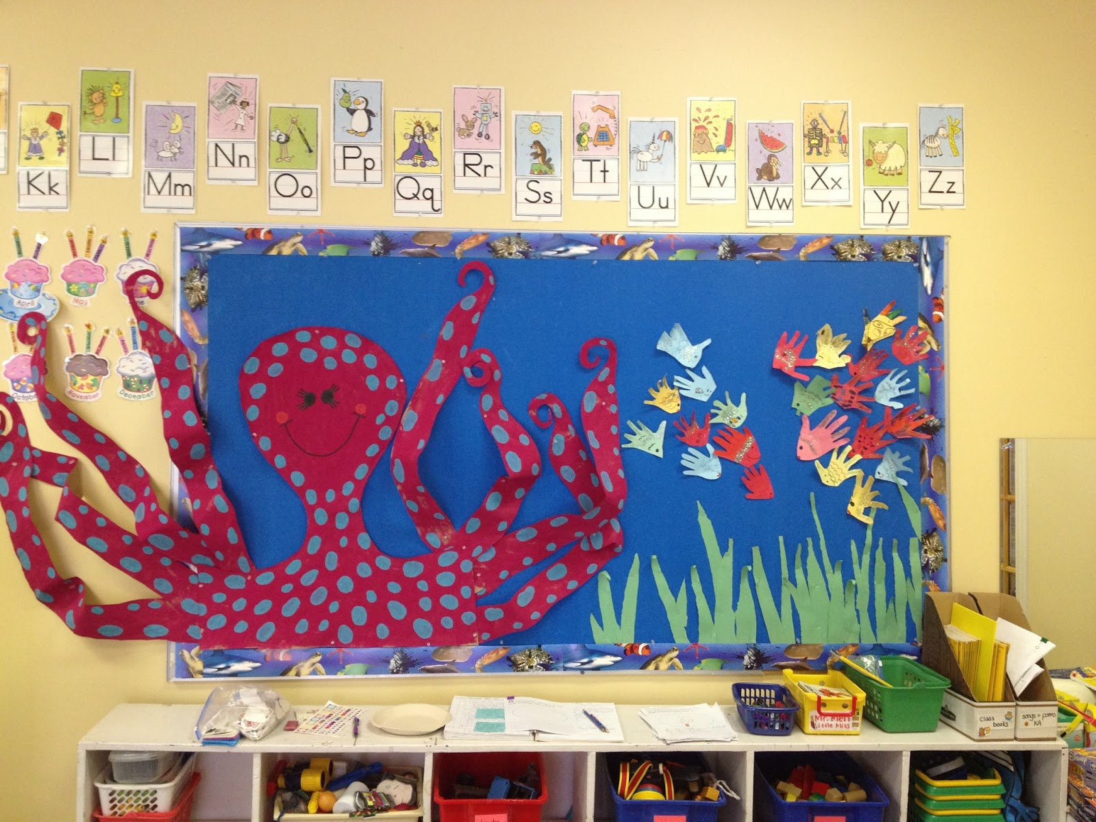 Classroom Ideas For Under The Sea ~ The new girl under sea classroom transformation